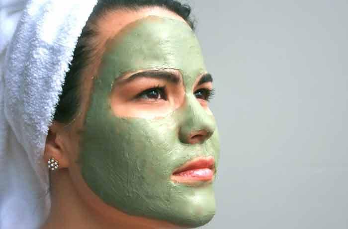 argile verte pour le visage